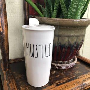 Rae Dunn Hustle Ceramic Tumbler